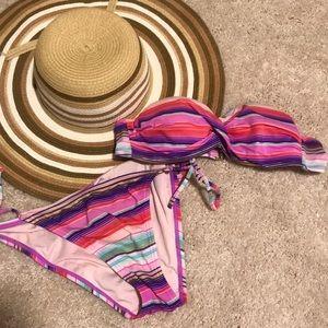 Other - Colorful stripe bikini
